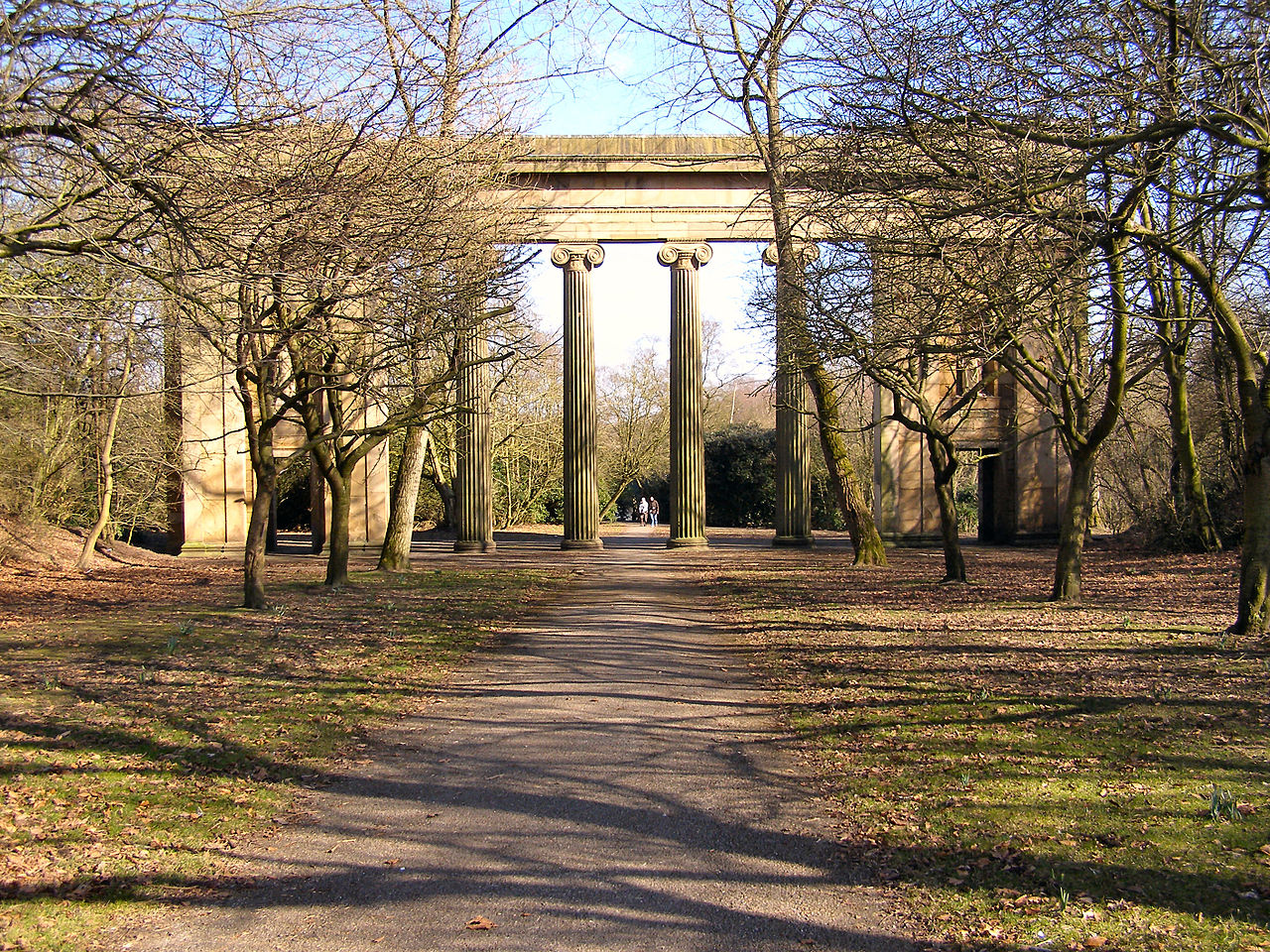 Heaton Park - Town Hall Colonnade - geograph.org.uk - Parklife Festival 2017