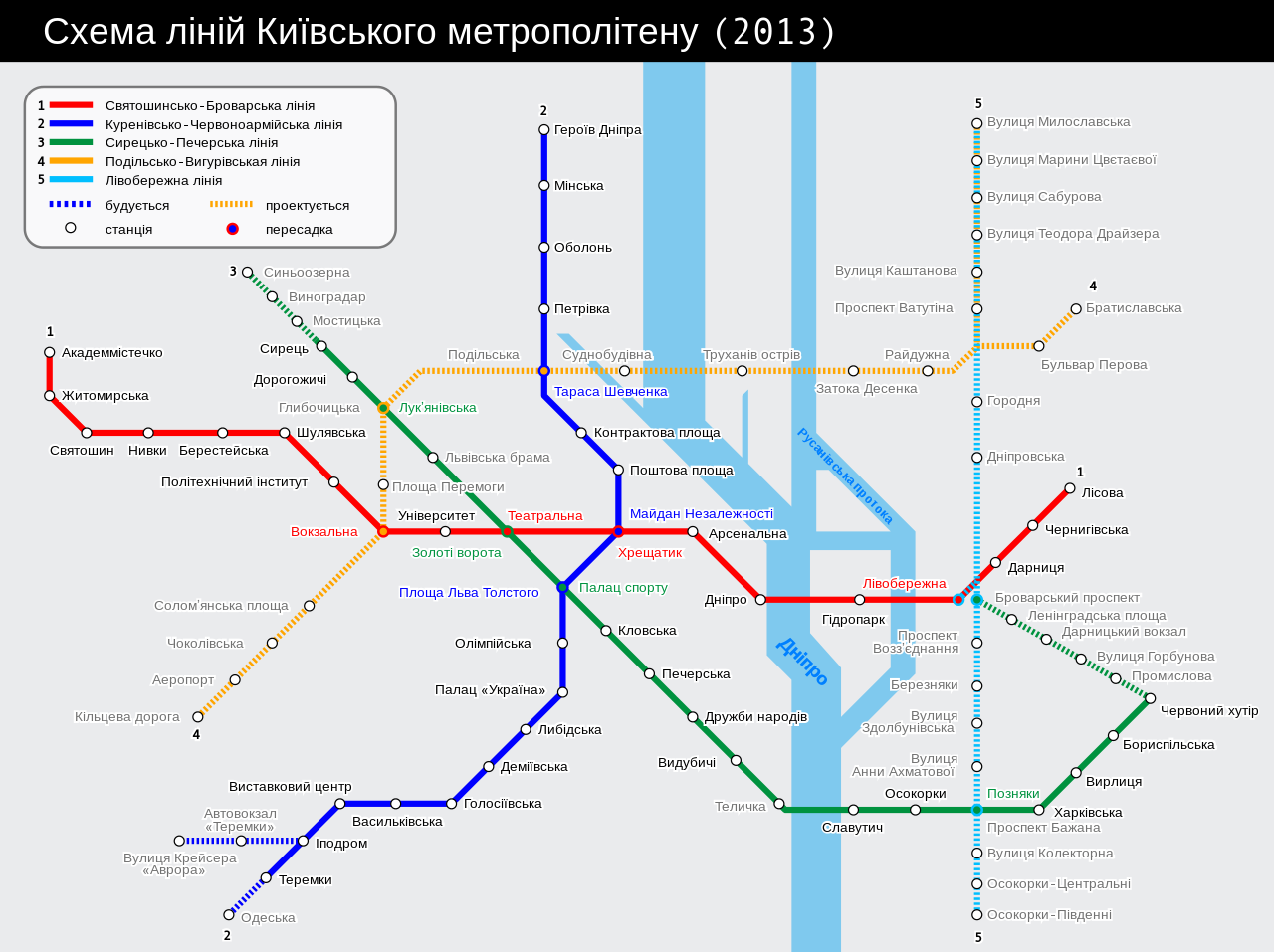 Kiev metro route map uk